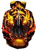 freshhoodies felpe con cappuccio unisex pullover di stampa 3d tigre magliette leggere con tasche felpa m
