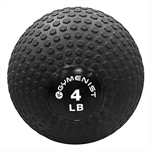 GYMENIST Weighted No Bounce Slam Ball, Intensive Workout, Training, Gym Exercise, Available 4-100 LBS (50 LB), Black