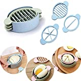Egg Slicer Cutter Set with 3 Cutters, Boiled Eggs Cutting Easy Slicing Wedges