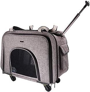 Pet stroller Pet Stroller, Collapsible Pet Stroller, Small Pet Stroller,Pet Supplies,for Small and Medium Pets (Color : Grey)