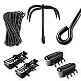 Ninja Equpiments: Outdoor Climbing Ninja Grappling Hook, Foot Spikes, Hand Claws, for Outdoor...