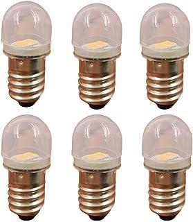 6個セット E10 口金サイズ LED豆電球 3V対応 0.5W (3V)