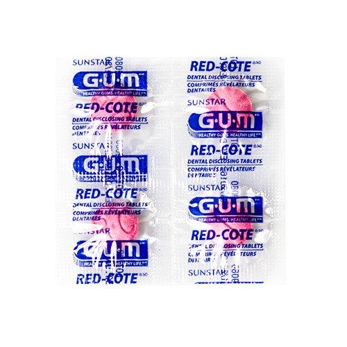 Gum Red Cote Färbetabletten zur Plaqueerkennung 12 er Pack