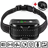LumoLeaf Dog Bark Collar -2020 Latest Rechargeable Elite Barking Collar Q6 with Humane
