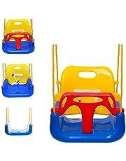 EXTSUD Elastische kinderschommel, kleur Eva-zacht bord, U-schommel, plankschommel, schommelzitje, schommelplank, belastbaar tot ca. 150 kg speelplaats in de buitenste schommel Eva Blau