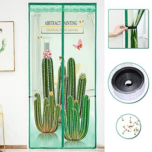 Summer Anti Mosquito Insect Fly Bug Gordijnen van de deur, Magnetic Mesh Net automatische sluiting Door Screen Kitchen Curtain,90 * 200cm