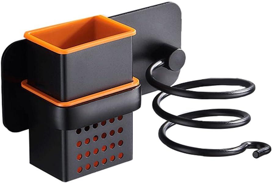 YI0877CHANG Porta Secador Secador de Pelo montado en la Pared Rack Creativo Secador de Pelo Soporte Baño Secador de Pelo Rack Almacenamiento Rack Secador de Pelo Perchero Soporte Secador