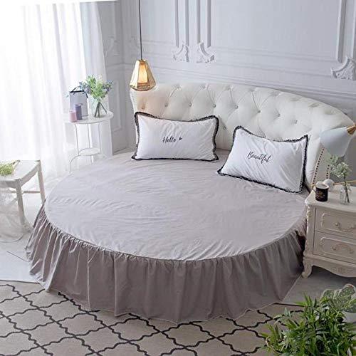HPPSLT Protector de colchón, con Aloe Vera, (Todas Las Medidas) Faldón de Cama Redondo de algodón Redondo -18_1,8m