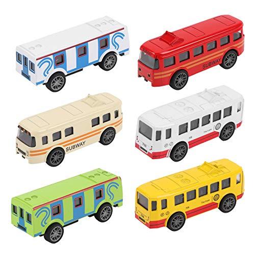 YOUTHINK Mini Modelo de vehículo de autobús de aleación para niños, Modelo de vehículo de Juguete para niños, colección de Regalos(UN)
