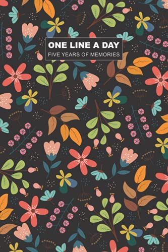 One Line a Day Five Years of Memories: Moms one line a day | one line a day journal five year memory book | 6 x 9 Diary