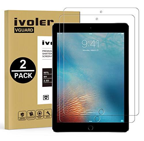 ivoler [2 Unidades Protector de Pantalla para iPad 9.7 Pulgadas 2018 / iPad 9.7 Pulgadas 2017 / iPad Pro 9.7 Pulgadas 2016 / iPad Air/iPad Air 2 (iPad 5 & 6), Cristal Vidrio Templado Premium