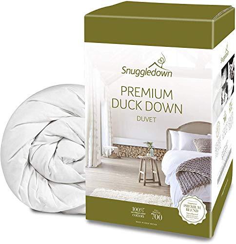 Snuggledown Luxury Duck Down Duvet, All Seasons 13.5 Tog (4.5+9.0), King Size