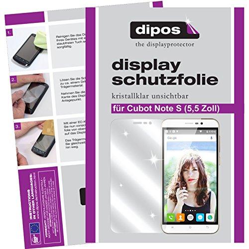 dipos I 6X Schutzfolie klar kompatibel mit Cubot Note S (5,5 Zoll) Folie Displayschutzfolie