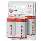 RadioShack D Alkaline Batteries (4-Pack)