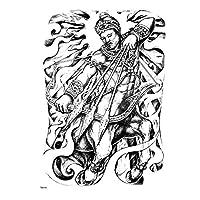 アーチェリー神戦士一時的なタトゥーステッカー3Dボディーアート偽のタトゥー大タトゥーフルバック防水一時的なタトゥー