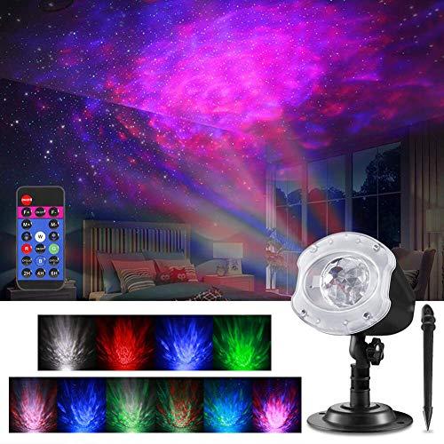 TAINANLE LED Projektionslampe Sternenhimmel Projektor Weihnachten Lichteffekt Romantische Projektor Lampe Nachtlicht Sternprojektor Für Geschenke Party Geburtstag Weihnachten Hochzeit
