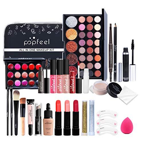 27PCS Schmink Geschenkset Make-Up Set,Portable Reise Makeup Organizer Storage Box Geschenke für Anfänger Mädchen