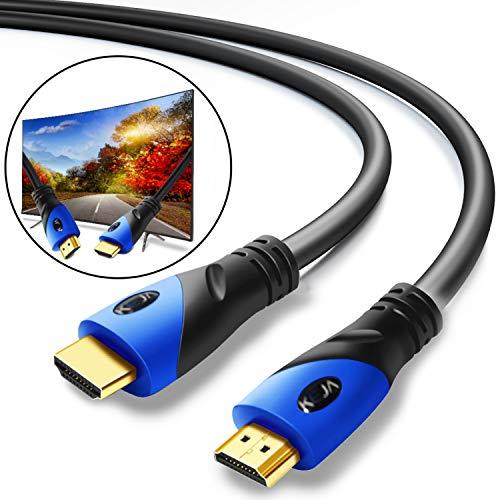HDMI-kabel 10 meter 4K Full HD verguld Ethernet 1.4a-High Speed 3D PS4 Xbox TV Beamer PC
