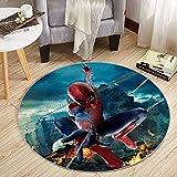 Kele Tapis de Dessin animé Rond Spiderman Anime Avengers garçon Fille Chambre d'enfants décoration Marvel Salon antidérapant Chaise Coussin 100cm