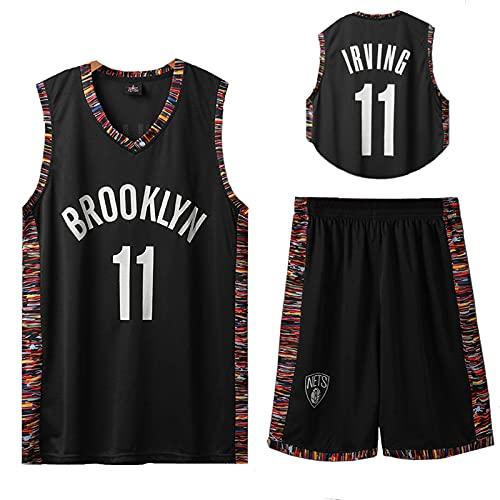 JZEL Brooklyn #11 Irving Basketball Sportanzüge Fitness Training Trikots Casual Basketball Uniformen Basketball Sportanzüge Schwarz1-XXL
