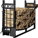 Amagabeli Large Wide Firewood Rack Fireplace Tool Rack...