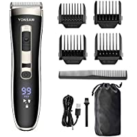 YONSAW Professional Cordless Rechargeable Electric Hair Clippers for Men