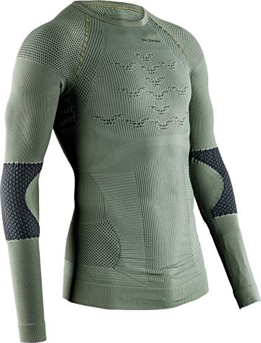X-Bionic Combat Energizer 4.0 Long Sleeves T Shirt Militaire Manches Longues Homme Femme Mixte Adulte, Olive Green/Anthracite, FR : 2XL (Taille Fabricant : XXL)
