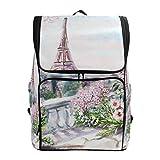 DXG1 - Mochila para mujer, hombre, adolescente y niña, diseño de la Torre Eiffel de París, bolsa de moda, bolsa de viaje, colegio, casual, para regreso a casa, suministros de gran capacidad