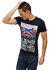 oodji Ultra Hombre Camiseta con Estampado Urbano