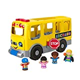 Fisher-Price- Autobús Escolar Amarillo Grande de Little People (Mattel GTL68), (Versión en...