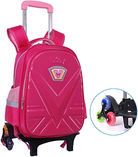 Schultrolley Schulranzen Klassen 1-3 Kinder mit abnehmbarem Rollwagen Hand Wasserdichte Umh etaschen,B