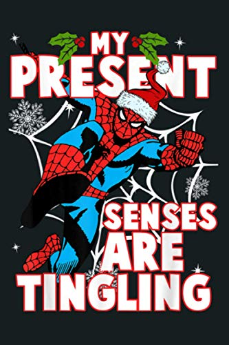 Marvel Spider Man Present Senses Tingling Christmas: Notebook Planner - 6x9 inch Daily Planner Journal, To Do List Notebook, Daily Organizer, 114 Pages