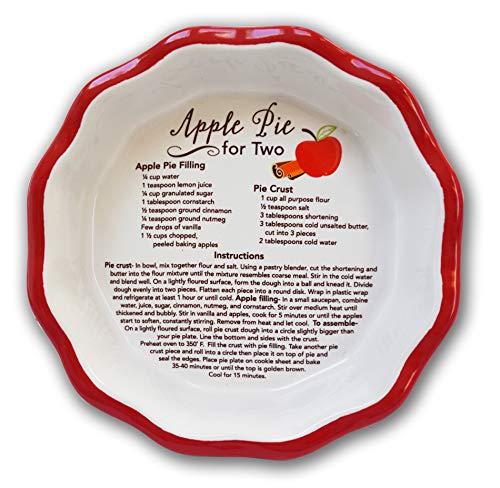 Abbey Gift Apple 2 Mini Pie Plate Boxed W/Recipe Card, Multi