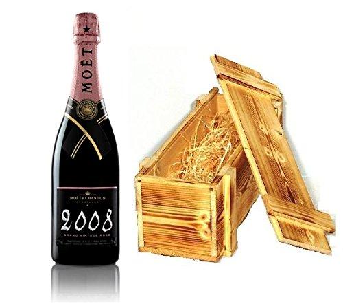Moet & Chandon Champagner Grand Vintage Rosé 2008 Holzkiste 12% 0,75l Fl.