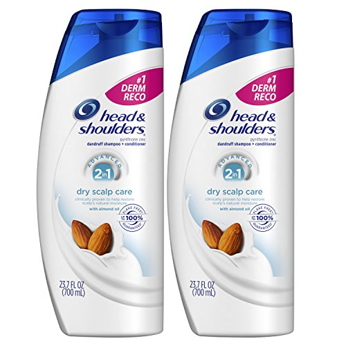 Head and Shoulders, Shampoo and Conditioner 2 in 1, Anti Dandruff, Dry Scalp Care with Almond Oil,...