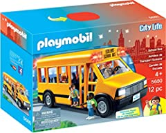Children can use the bus to transport Playmobil figures from school to home Front and rear lights really work and there is plenty of seating for all 4 figures Playmobil is the largest toy manufacturer in Germany Figures can bend, sit, stand and turn ...