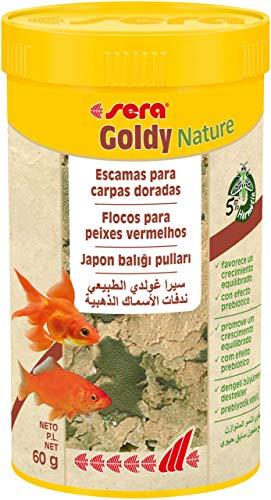 Sera Goldy Nature 250 ml Escamas para Carpas Doradas, para un Crecimiento Sano y Colores Brillantes, 60 g (Paquete de 1), 250