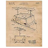 Vintage Disney People Mover Ride Patent Poster Prints, Set of 1 (11x14) Unframed Photos, Wall Art Decor Gifts Under 15 for Home, Office, Shop, College Student, Teacher, Movies & Theme Park Fan