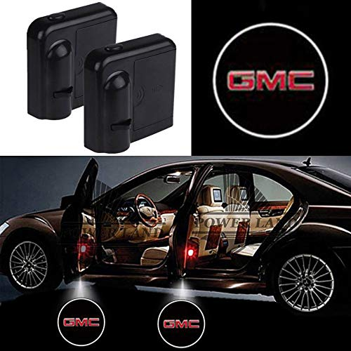 Wireless Car Door Led Welcome Laser Projector Logo Light Ghost Shadow Light Lamp Logos For GMC All models(2 Pcs)