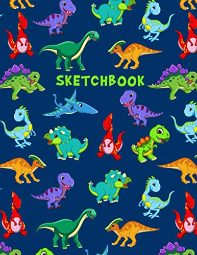 Sketchbook: Dinosaurs Blank Notebook for Drawing, Writing, Painting or Doodling for Kids.