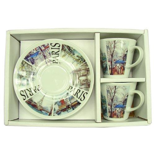 Recuerdos de Francia–tazas de café (monumentos de París