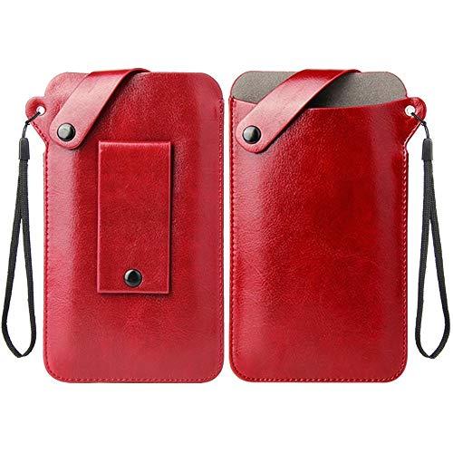 DFVmobile Holder Ultra Lightweight Belt Case with Snap Fastener for LG G4s, LG H735, LG G4 Beat - Red
