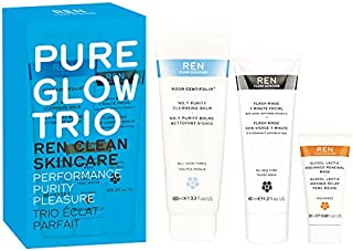 REN Pure Glow Trio Skincare Set - 3
