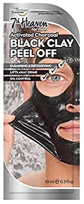 7th Heaven Mens Black Clay Peel Off Face Mask