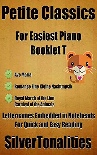 Petite Classics for Easiest Piano Booklet T (English Edition)