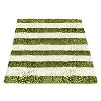 エア・リゾーム ラグマット 2畳 洗える おしゃれ 北欧 ボーダーラグマット LENON(レノン) 185×185cm〔正方形〕