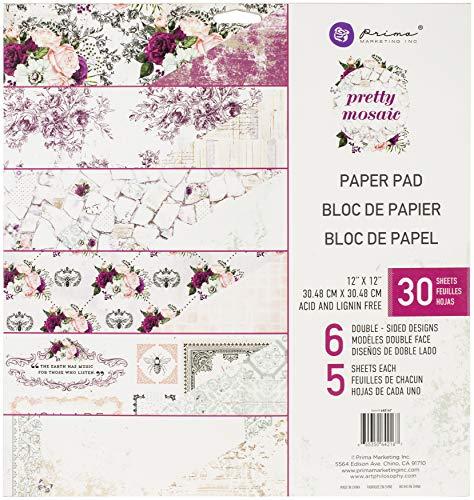 PRIMA MARKETING INC 642167 Pretty Papier 30,5 x 30,5 cm, Schönes Mosaik-Design, Einheitsgröße