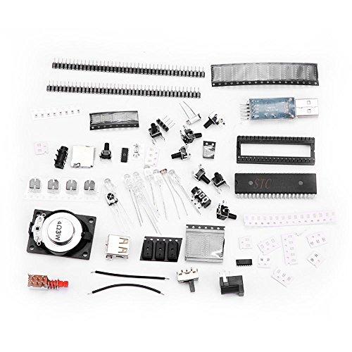 Zerodis 3D 8x8x8 Licht Quadratisch DIY Kit Fernbedienung DIY Elektronisches Musikspektrum Set Rot Grün Blau RGB LED Musikspektrum Mikrocontroller Lichtwürfel #2