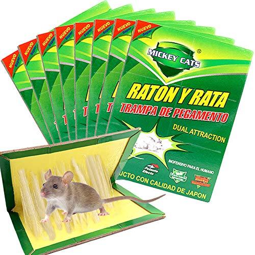 ZOORE Panngu 8 Unidades Trampa Adhesiva para Ratas, Profesional Trampa para Ratónes, fácil de Usar ratón Adhesivas para ratoncillos y Rata (34cm x 22cm)