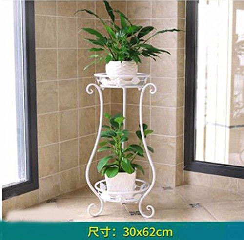 JRFBA Le Salon De Style Européen Tieyi Balcon Fleur Fleur Vert Multi Terre Végétale Charnues Panier De Plateau De Fleurs,B